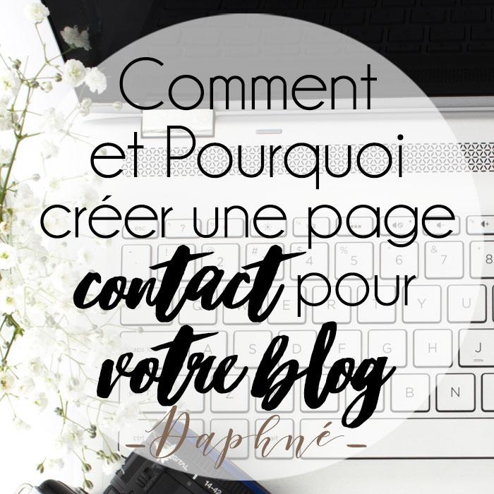 Pourquoi et comment créer une page Contact pour votre blog